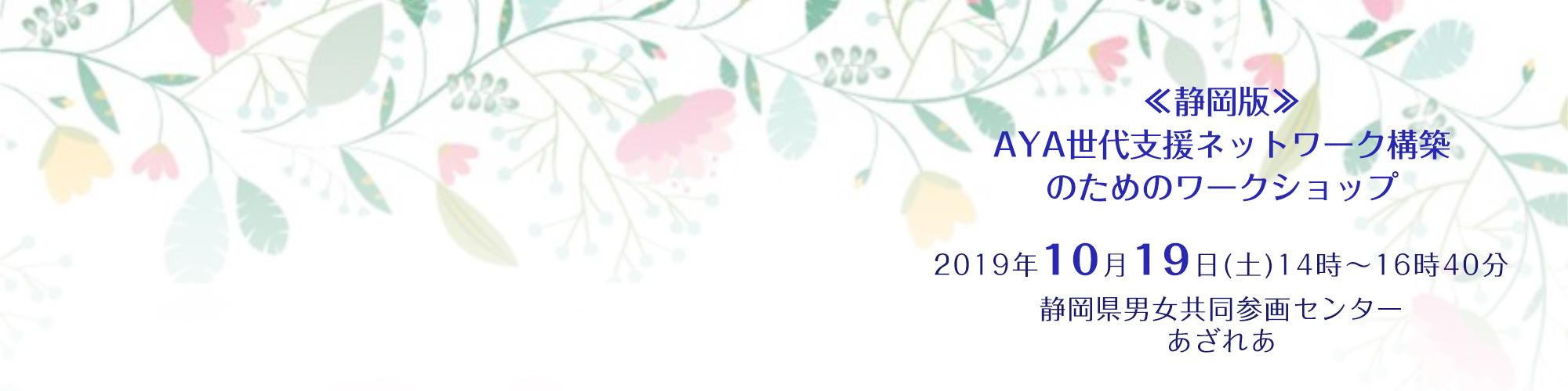 10月19日「静岡版 AYA世代支援ネットワーク構築のためのワークショップ」