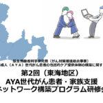3月15日(東海地区)「第2回AYA世代がん患者・家族支援ネットワーク構築プログラム研修会」